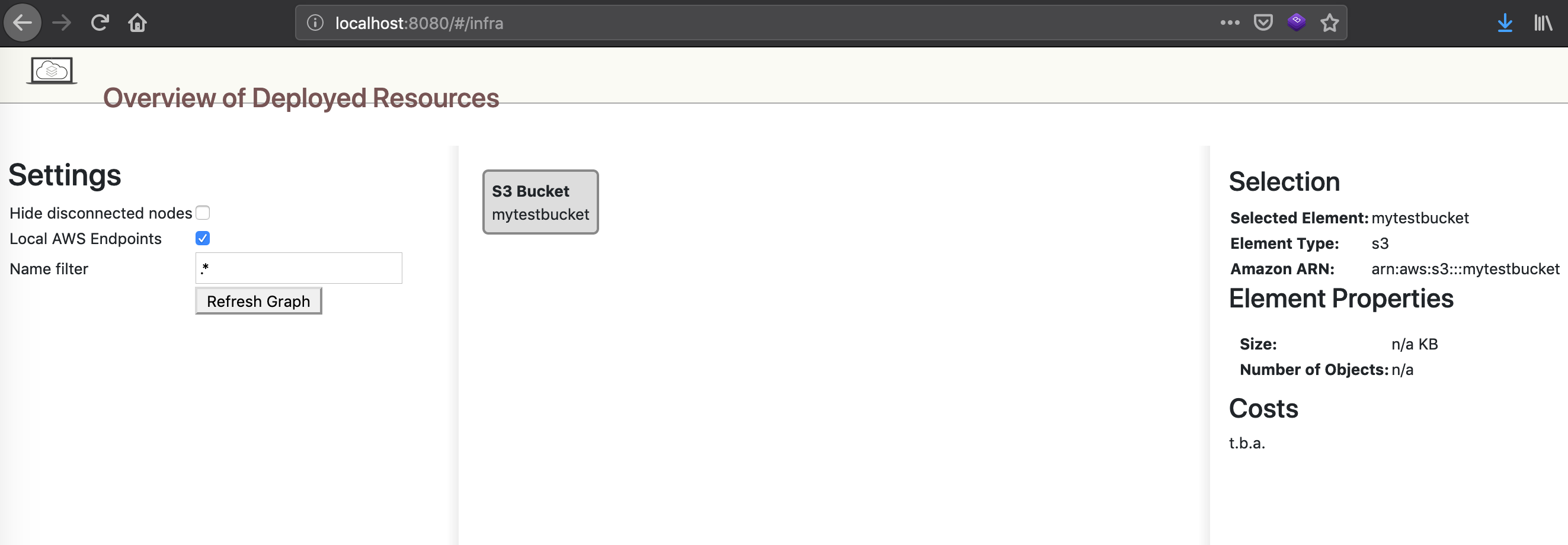 AWS-LocalStack-OverviewS3BucketDashboard
